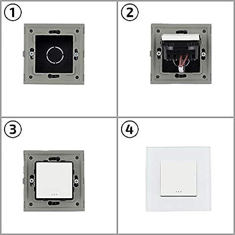 LEDKIA LIGHTING Interruptor Triple Blanco