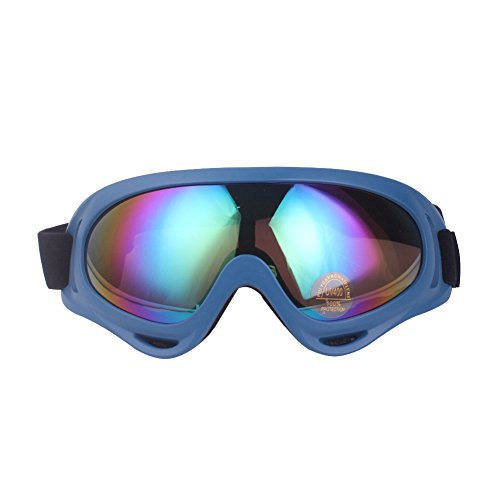 Minalo UV Protection Outdoor Sports Ski Glasses CS Army Tactical Military Goggles Windproof Snowmobile Bicycle Motorcycle Protective Glasses Ski Goggles - Prescription Biker Goggles