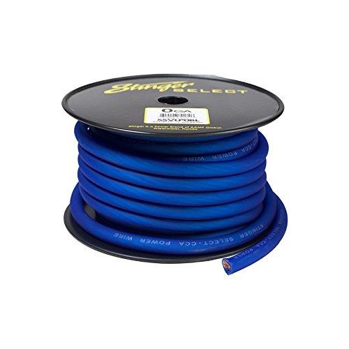 Stinger SSVLP0BL 1/0Ga Matte Blue Power Wire 50' by Stinger