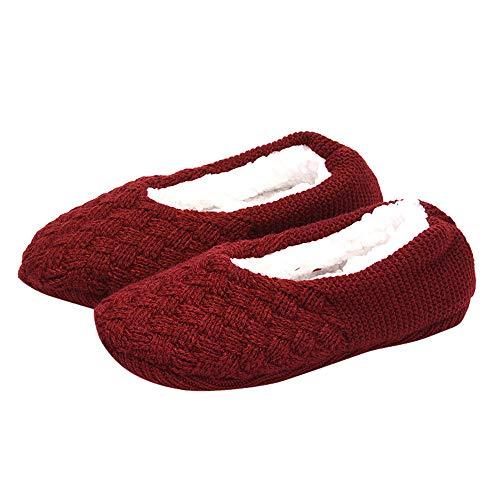 Price comparison product image Ankola Home Slipper Socks Christmas Women Fleece Cozy Warm Knit Non Slip Slipper Socks Casual House Socks (Free Size, E)