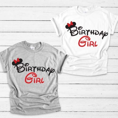 Ladies Disney Birthday Girl Shirt Adult Minnie Mouse Tshirt Handmade