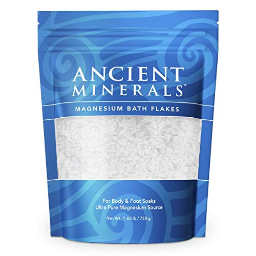(Ancient Minerals Magnesium Bath Flakes of Pure Genuine Zechstein Chloride - Resealable Magnesium Supplement Bag that will Outperform Leading Epsom Salts (1.65 lb))