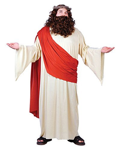 Fun World Men's Plus Size Jesus Costume, Multi One ()
