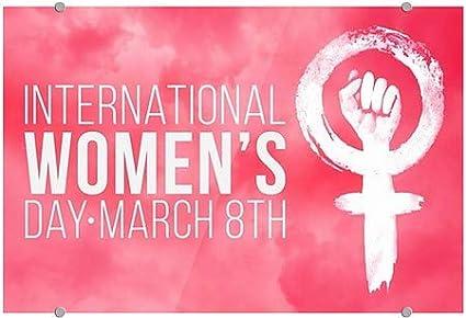 18x12 Womens Day Pink Symbol Premium Acrylic Sign 5-Pack CGSignLab