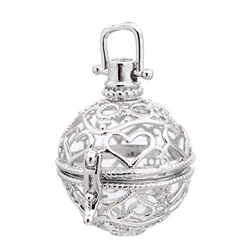 ARRICRAFT 10pcs Brass Prayer Box Pendants Hollow Round Ball Jewelry Supplies Christmas Pendant for Necklace Jewelry Making, ()