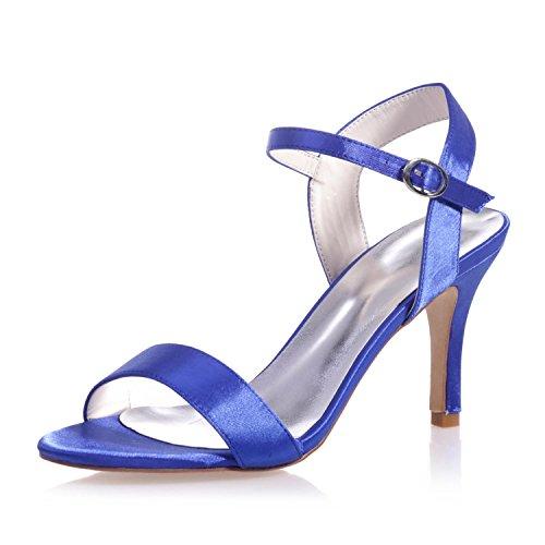 Peep L E 03 Per In Sera Feste Toe Blue Raso Donna Notte Brevetto Sposa Piattaforma 9920 Da Di yc Sandali r7qOrw