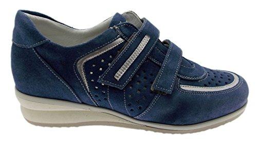 nbsp;velcro Azul Perforado Mujer Ortopédico Zapato Sneaker Artículo Loren C3659 EqHgxSv