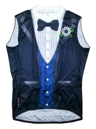 Ritz Tuxedo Cycling Jersey Men's XXL Sleeveless by Primal We