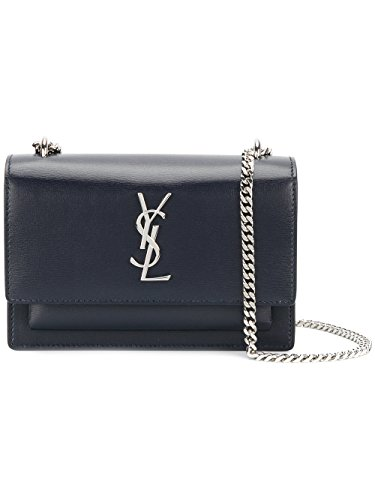 Saint Laurent Women's 452157D422n4147 Blue Leather Shoulder Bag