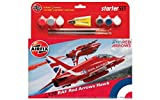 Airfix A55202B RAF Red Arrows Hawk Military Plastic Model Kit Gift Set (1:72 Scale)