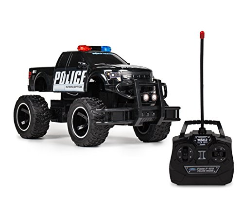 World Tech Toys Ford F-150 SVT Raptor Police Pursuit 1: 24 RTR Electric RC Monster Truck
