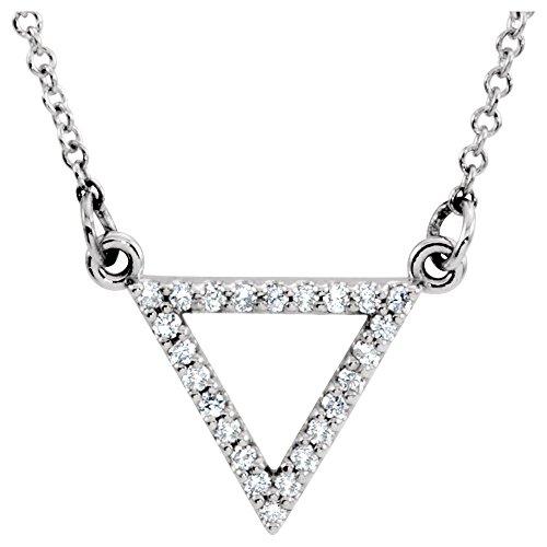 - 14K White Gold 1/8 CTW Diamond Triangle 16