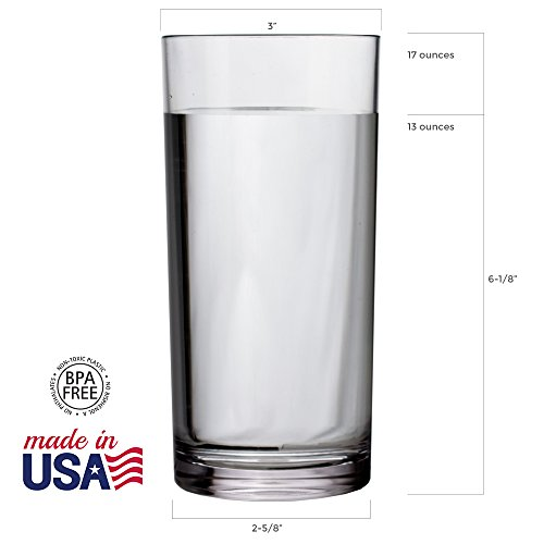 8-Piece Classic SAN Clear Plastic Tumblers | four 14-ounce and four 16-ounce by US Acrylic (Image #3)