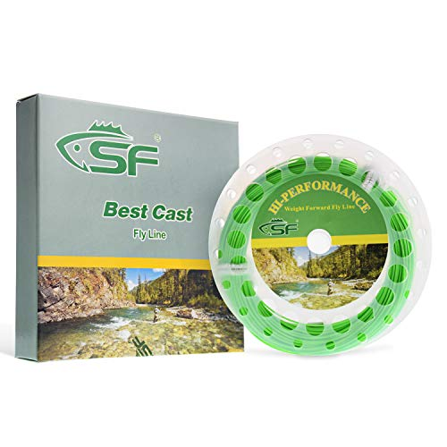 SF Weight Forward Floating Fly Fishing Line Welded Loop Spring Green 100FT WF8F