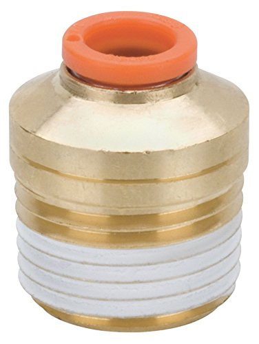 SMC KQ2S11-35AS Brass Push-to-Connect Tube Fitting with Sealant, Hex Socket Head Adapter, 3/8