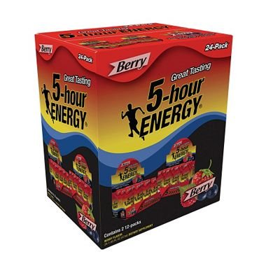 5-Hour Energy, Berry Flavor, 24 pk./1.93 oz. (pack of 6) by 5 Hour Energy