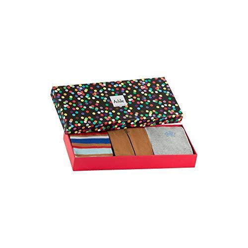 Paires 3 De Cadeau Chaussettes Coffret Achile Eqxtaa