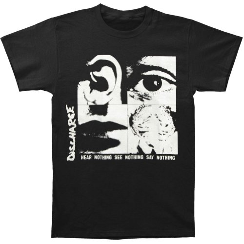 Discharge Mens Nothing T shirt Black product image
