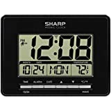 Sharp Atomic Desktop Clock – Auto Set Digital Alarm Clock - Atomic Accuracy - Easy to Read Screen with Time/Date…