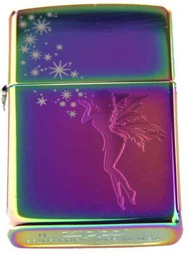 Zippo Custom Ligher - Tinkerbell Stardust Fairy Spectrum, New for 2011 Logo