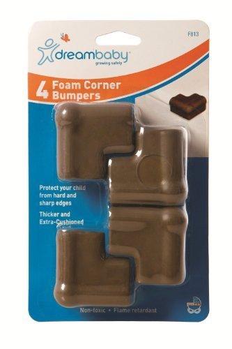 Foam Corner Cushions Brown by Dream Baby