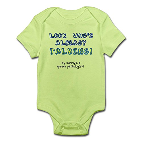 CafePress LOOK WHO'S TALKING Body Suit Cute Infant Bodysuit Baby Romper
