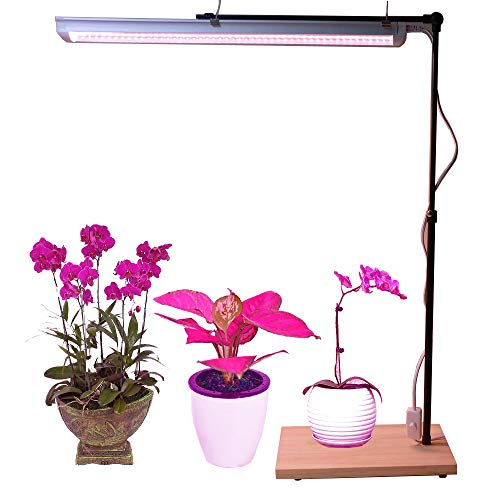 T8 LED Plant Grow Light Stand Fixture & Bracket 10W Full Spectrum Grow Lamp for Home Indoor Plants Veg Flower by AiHihome