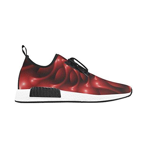 Artsadd Digital Art Glossy Red Fractal Spiral Draco Bonuce Running Mens Shoes wPyRh