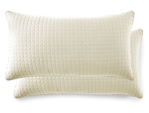 (Southshore Fine Linens - VILANO Springs - Pair of Quilted Pillow Sham Covers (No Inserts), 20