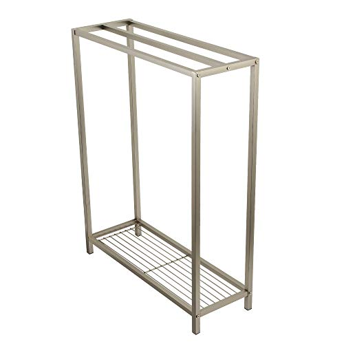 (Kingston Brass SCC8358 Edenscape Freestanding Iron Towel Rack Brushed Nickel)