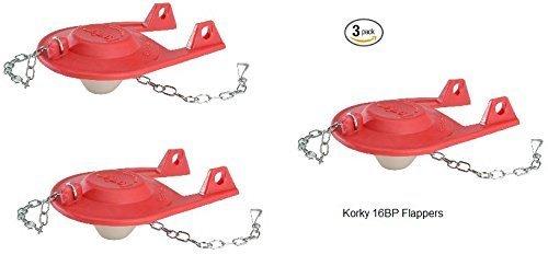 Korky 16BP Korky 1.6 gpf Flapper - 3 Pack