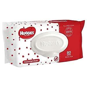 Huggies Essential Clean Baby Wipes, 80 Pack