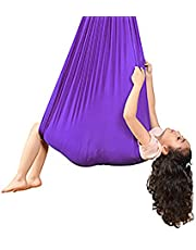 Children's Hammock, Elastic Hammock is Light and Tear-Resistant, Small Storage Volume, Convenient to Carry, Suitable for: Travel, Indoor, Backyard Size: 100 * 280Cm,C