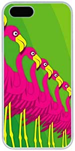 Flamingo For SamSung Note 2 Phone Case Cover Hard Shell White Cover Cases by iCustomonline