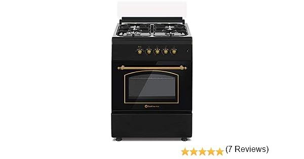 Cocina SolThermic F6S40G2I de Color Negro Rústico compuesta ...