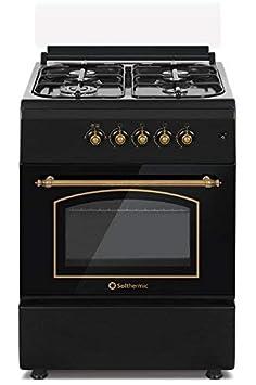Cocina SolThermic F6S40G2I de Color Negro Rústico compuesta por 4 ...