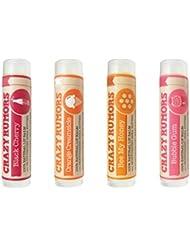 Black Cherry, Orange Creamsicle, Bee My Honey and Bubble Gum 4 Pack Lip Balm