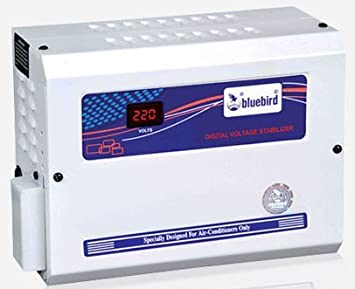 bluebird 4 kVA Economy Voltage Aluminum Stabilizer for 1.5 Ton Air conditioner, 5.5 inch  White