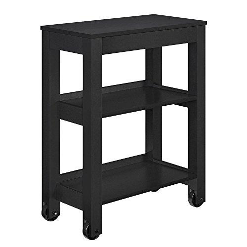 Altra Furniture Altra Parsons Wide Storage Cart, black Parsons Storage