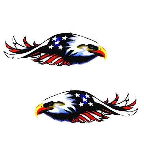 - Glumes Flying Hawk Sticker Car, 2PC, Truck Window Drift Vinyl Decal Sticker For Motorcycle Bicycle Luggage Decal Graffiti Patches Skateboard Stickers for Laptop Stickers (Brown)