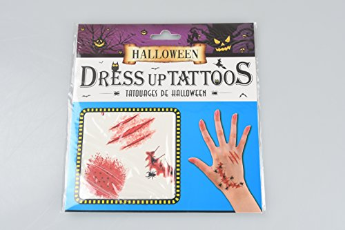 Halloween Props Costume Makeup Realistic Scar Stickers Hand Bone Spider Scratches Horror Wound Makeup Halloween Temporary Tattoo Stickers (Bite Marks)