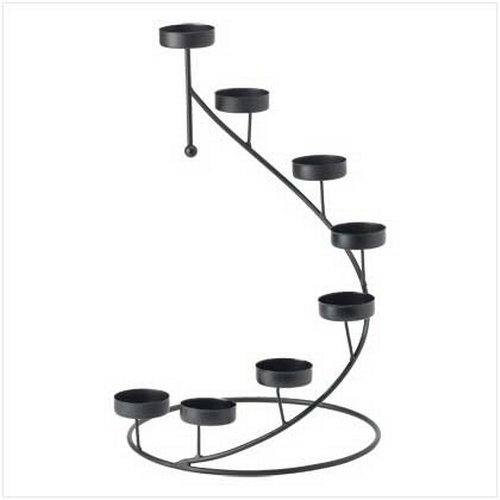Metal Spiral Candlestick (Gifts & Decor Metal Spiral Table Top Party Centerpiece Candle)