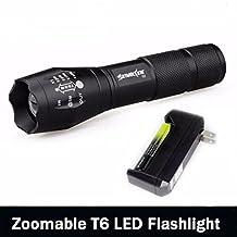 Handheld Flashlight, Han Shi Zoomable 3500 Lumens 5 Modes XML T6 LED Flashlight Lamp Battery Included