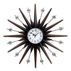 24 H Modern Style Metal Mute Wall Clock Home Kitchen