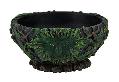 Things2Die4 Green Man Black Stone Finish Scrying Bowl