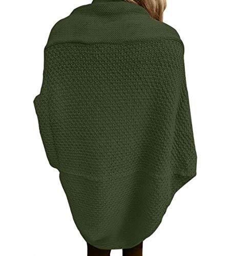 En Femmes Pull Et Veste Pour Tricot Hiver Longues Fgsjej Vert Automne Manches À Femmes HxaOqTq
