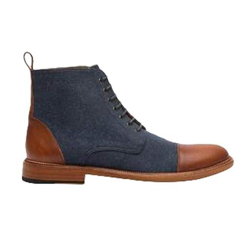 Moda Botines con Cordones Clásico Estilo Británico Martin Botas Hombre Antideslizantes Zapatos Planas Zapatillas Botas Chelsea Tamaño 39-48: Amazon.es: ...