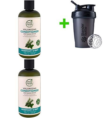 (Petal Fresh, Pure, Volumizing Conditioner, Rosemary & Mint, 16 fl oz (475 ml)(2 Pack(s)+Sundesa, Blender Bottle, Classic With Loop, 20 oz)
