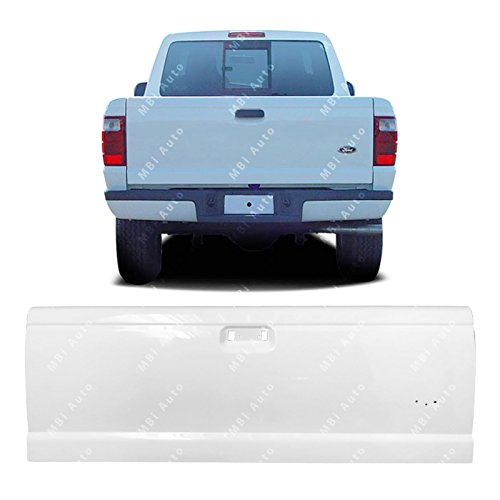 MBI AUTO - Painted YZ Z1 White Steel Tailgate for 1993-2005 Ford Ranger 93-05 & 1994-2010 Mazda B2300 94-10, FO1900112