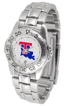 Sport Louisiana Bulldogs Watch Tech (NCAA Louisiana Tech Bulldogs Ladies Gameday Sport Watch with Stainless Steel Band)